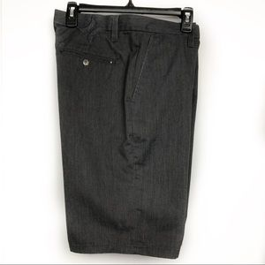 Hurley Men's Flat Front Shorts S 31 Charcoal Grey